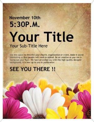 Womens Retreat Church Event Flyer