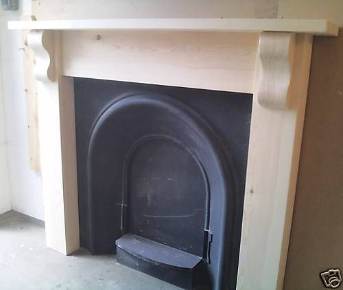 SOLID PINE  CHUNKY  FIRE SURROUND WITH CORBELS