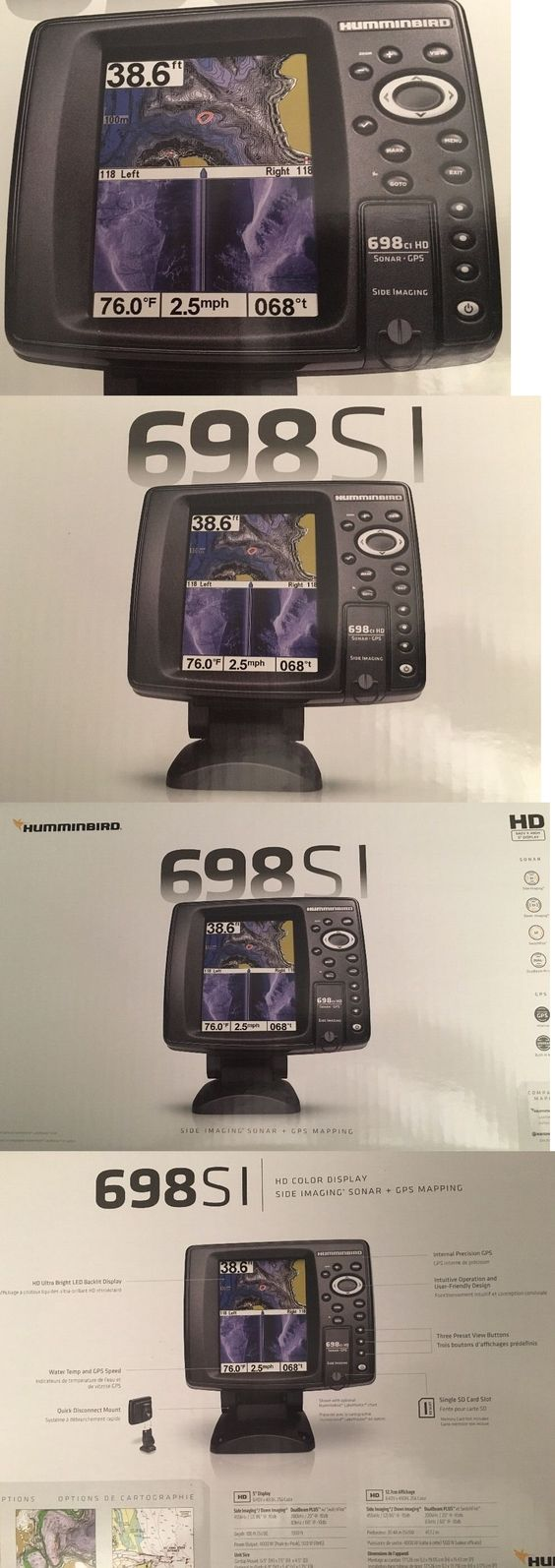 fishfinders 29723: brand new humminbird 698ci hd si gps sonar, Fish Finder