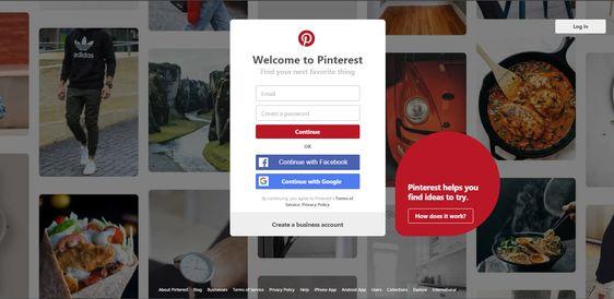 Pinterest - Create Account