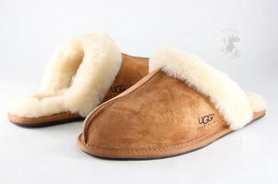 Women UGG Australia Scuffette Slipper 5661 Chestnut 100% Authentic  Brand New #UGGAustralia #Scuffs