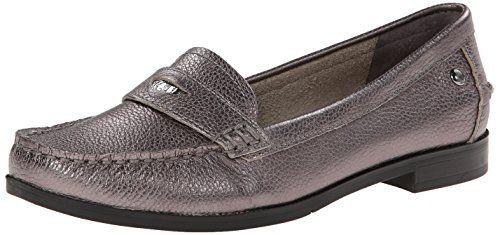 Hush Puppies grey metallic penny loafer!