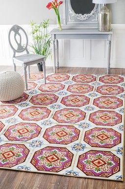 Angelique Tiles Rug - Pink