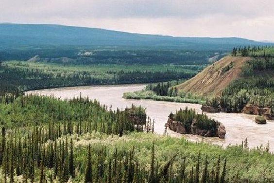 The stunning aerial view of Yukon