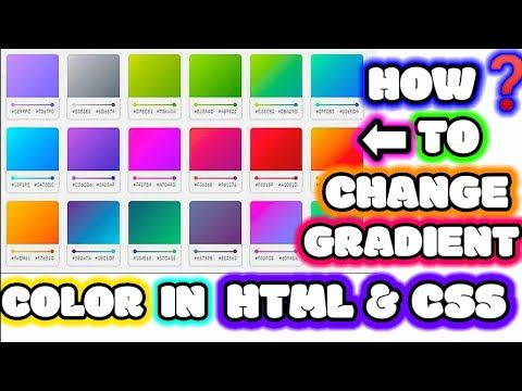 Background Gradient Color In Html How To Change Background Linear Gradient Color In Html Youtube Change Background Youtube Gradient Color Background image color in html