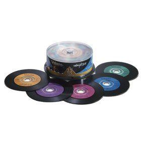 Writable CDs that look like vinyl records -- DIY Retro Wedding Playlist Favors
