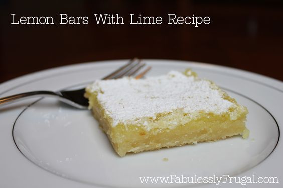 I love limes, so I had to try Lemon Bars with Lime. So delicious!