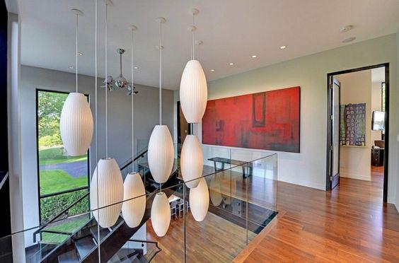 Große Pendelleuchten im Esszimmer – moderne Hängelampen - große ...
