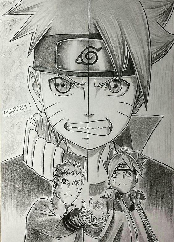 Video Desenhe Seus Personagens Favoritos Con Imagenes Naruto