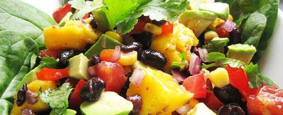 "Avocado Mango Black Bean Salad...I love foods that ""sparkle"" in my mouth!  Yummmmm!"