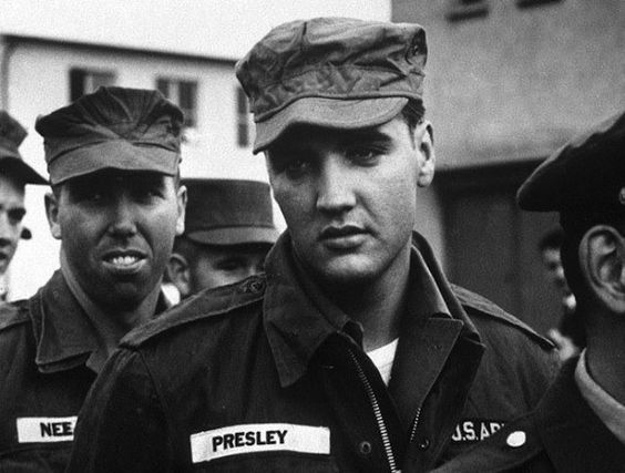 Elvis Presley in 1958, the year he was inducted into the U.S. Army.