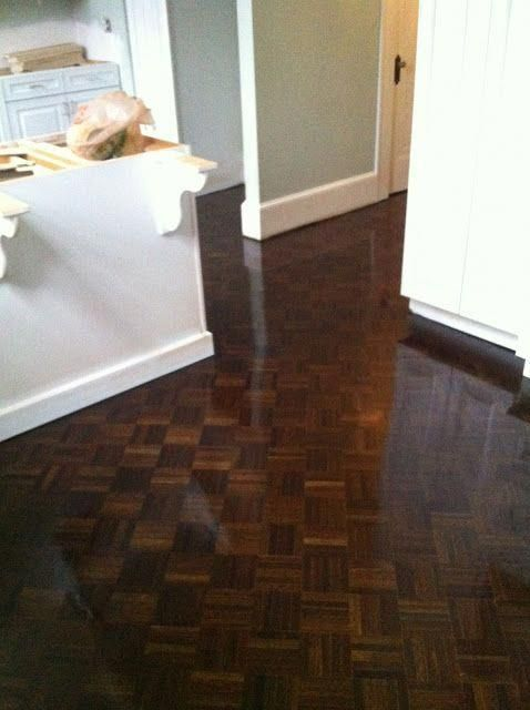 Beautifully Refinished Parquet Flooring I Recommend Champion For