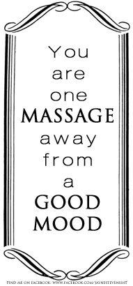 that's not far away...go get a massage!: