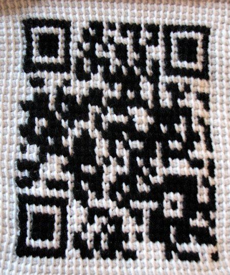 Crocheted QR code! #crochet: Clever People, Crochet Fun, Crochet Ideas, Clever Tech, Code Crochet, Artsy Crafty, Qr Code, Crocheted Qr, Crocheted Goodness