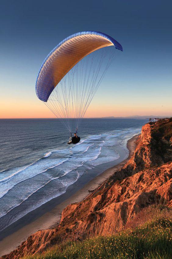 Hang Gliding off Torrey Pines. Shot by James Marciariello. #GetOutsideSD