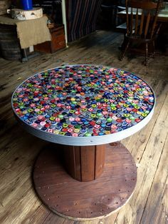 Beer Cap Table Beer Cap Table Wooden Spool Tables Spool Tables