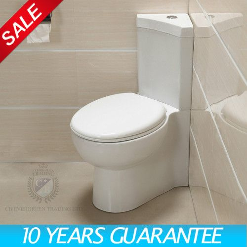 Corner Toilet : Corner Toilet WC Dual Flush Cistern + Soft Close Seat 0418 Toilets ...