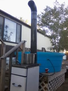 Home Made Hottub Using Thermosyphon An Old Trash Burner