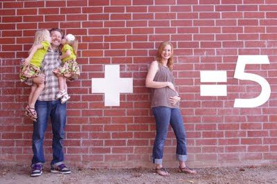 What an adorable way to make an announcement.  http://michellesbelles.blogspot.com/2011/09/now-we-are-five.html