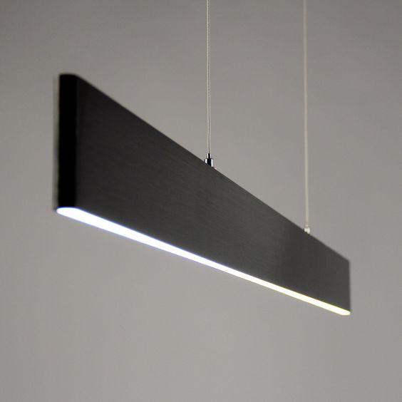 SKAPETZE -    Slim / LED-Hängeleuchte / 2730 Lumen / Up&Down dimmbar / Schwarz eloxiert Innenleuchten Hängeleuchten