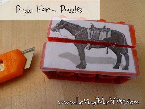 Duplo Farm Puzzle @ Loving My Nest