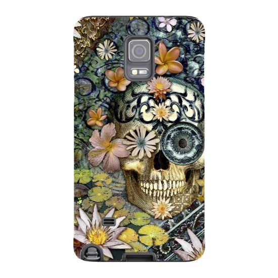Copy of Floral Skull Galaxy NOTE 4 Case - Bali Botaniskull - Botanical Sugar Skull Samsung Galaxy NOTE 4 Tough Case