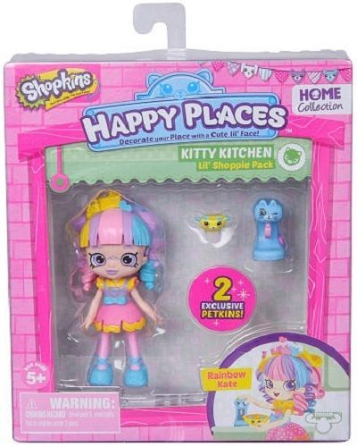 Shopkins Happy Places Kitty Kitchen Doll with Petkins - Rainbow Kate #Shopkins