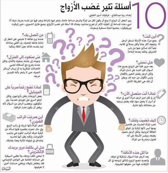 10 أسئله تثير غضب الأزواج ' ❤ 9c578214828eb0195085