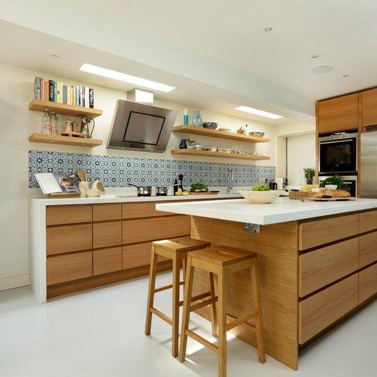 20 cool modern wooden kitchen designs pinterest for Bespoke kitchen ideas