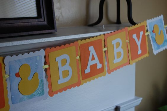 Gorgeous baby banner - something different from bunting flags but even cuter!!
