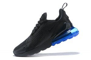 Mens Nike Air Max 270 Flyknit Sneakers Black Blue AH8050 005