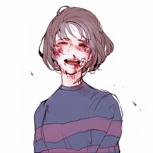 Abused bloody anime girl Guro game Undertale
