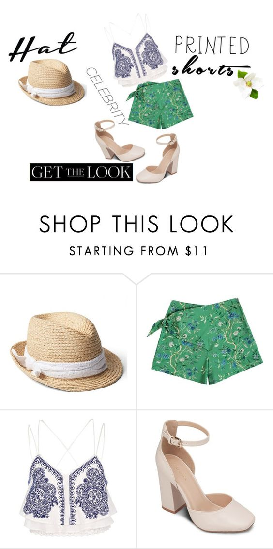 """printed shorts + printed top"" by beemdh on Polyvore featuring moda, Gap, Samantha Pleet, River Island, ZALORA, GetTheLook y hats"