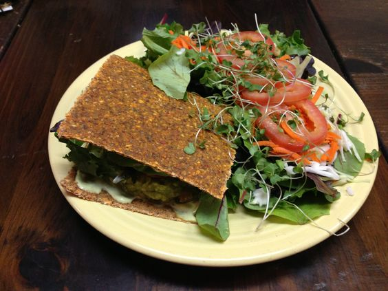 Two Lovers Raw Sandwich from Vegeria in San Antonio (August 23, 2013)