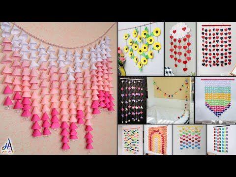 11 Best Paper Wall Hanging Room Decor Making Diy Craft Ideas Youtube Kerajinan Diy Ide Kerajinan Kerajinan Bunga Diy room decor ideas youtube