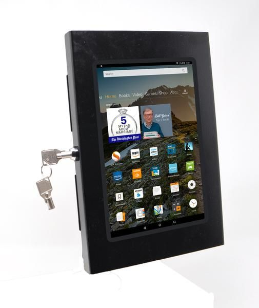 Amazon Fire Hd 8 Security Wall Mount Metal Enclosure Vesa Ready Enclosure Wall Mount Tablet