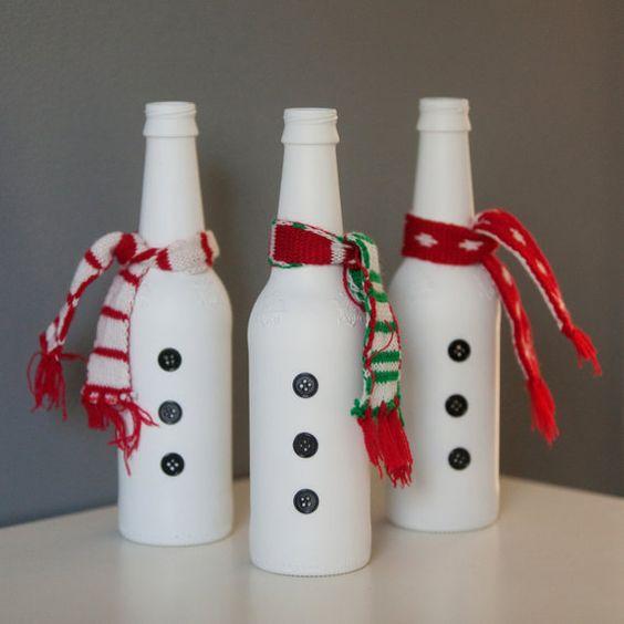 Resultado de imagem para DIY garrafa DE NATAL PINTEREST