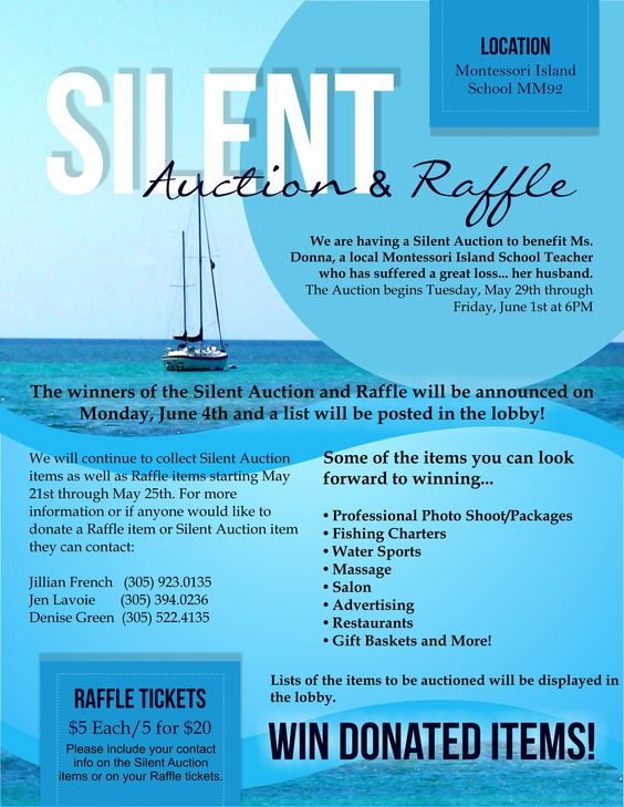 Silent auction flyer by blutiki design studio www for Silent auction catalog template