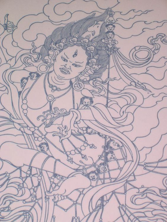 Tibetan Mother Of the Universe   Printing Plate