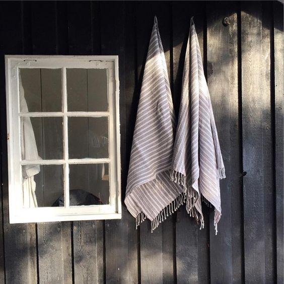 #carebyme #Badehandtuch 100x200 cm Bio-Baumwolle Blau-Weiß - Gefunden auf #KONTOR1710