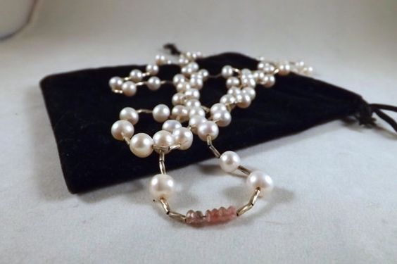 Classic AAA 6mm Pink Pearls Bali Liquid Silver by EclecticDesigns, $47.00