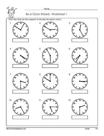 Worksheet -1-Telling-Time | education | Pinterest | Worksheets
