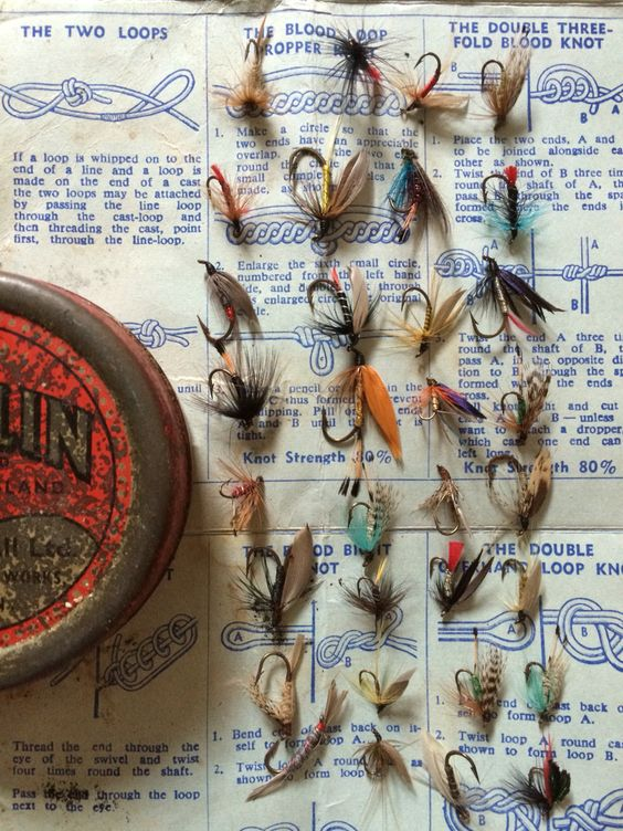 Vintage hand-tied fishing lures