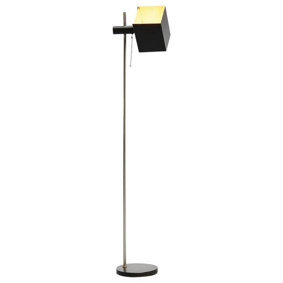 Modernist Floor Lamp with Cubic Rotatable Shade, 1960 | 1stdibs.com