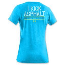 I kick asphalt.