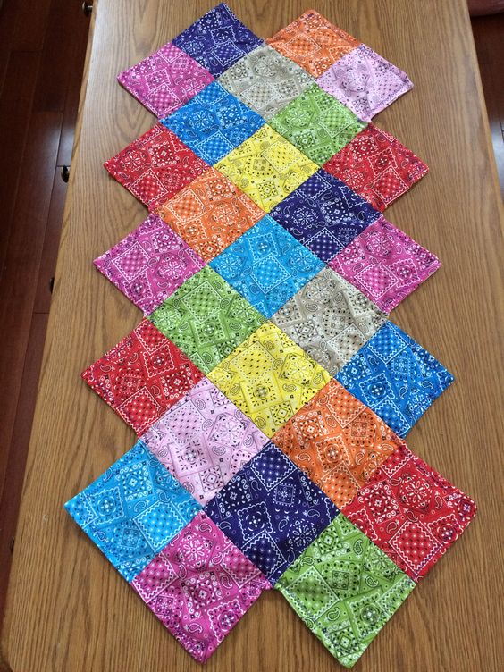 Zig Zag Quilted Table Runner Cindy 1 My Quilts
