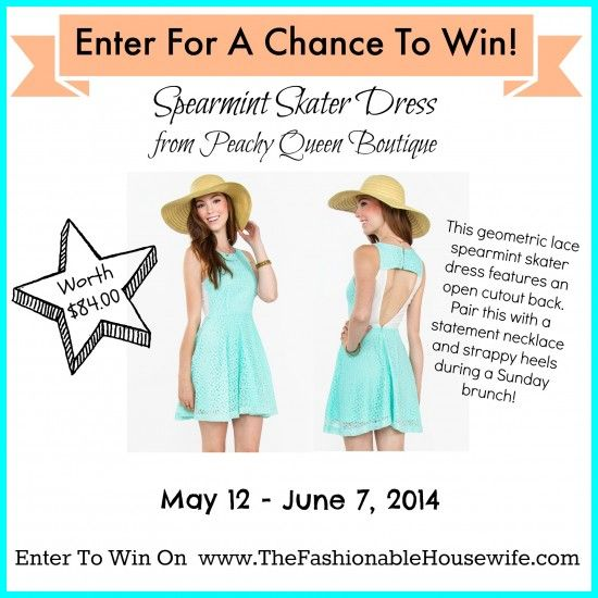 Enter To Win A Spearmint Skater Dress from Peachy Queen!: Peachy Queen, Queens, Contest, Win, Fashionable Housewife, Skater Dresses, Giveaways, Housewife Giveaway