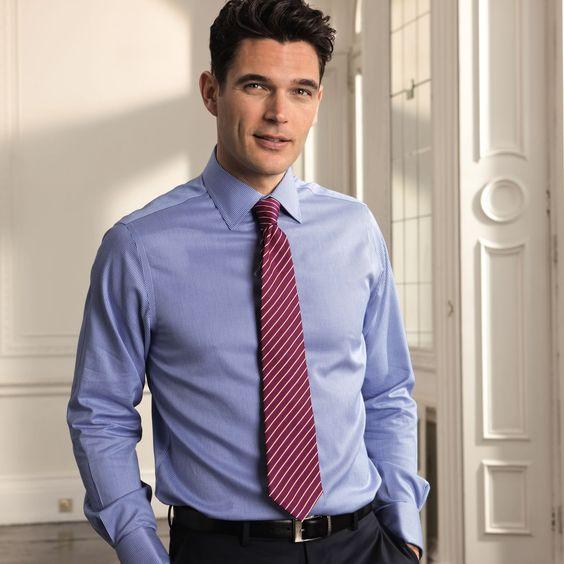 Royal twill puppytooth non iron slim fit shirt slim fit for Mens dress shirts charles tyrwhitt