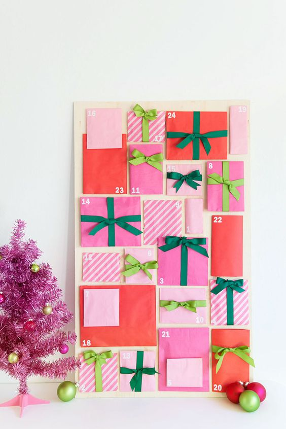 DIY colorful Advent Calendar: