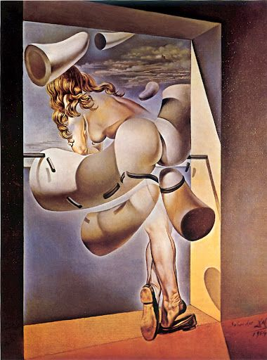 """Jeune vierge autosodomisée par les cornes de sa propre chasteté - Salvador Dali (1954) """"Joven virgen autosodomizada por los cuernos de su propia castidad"""""""